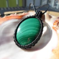 Natural Malachite Pendant, Malachite Necklace, Macrame Stone Necklace, Green Stone Pendant, Boho Long Gemstone Necklace, mens Malachite | Natural genuine Gemstone jewelry. Buy handcrafted artisan men's jewelry, gifts for men.  Unique handmade mens fashion accessories. #jewelry #beadedjewelry #beadedjewelry #shopping #gift #handmadejewelry #jewelry #affiliate #ad