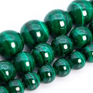 Deep Green Malachite Beads Genuine Natural Grade AAA Gemstone Round Loose Beads 6MM 8MM 10MM 12MM Bulk Lot Options | Natural genuine round Gemstone beads for beading and jewelry making.  #jewelry #beads #beadedjewelry #diyjewelry #jewelrymaking #beadstore #beading #affiliate #ad