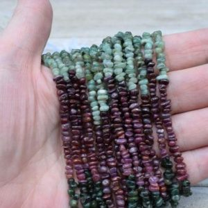 Mixed Ruby and Emerald Chips / Beads – Natural Gemstone Chips – Long Strand | Natural genuine chip Ruby beads for beading and jewelry making.  #jewelry #beads #beadedjewelry #diyjewelry #jewelrymaking #beadstore #beading #affiliate #ad
