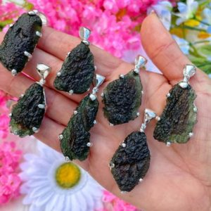 """Genuine Moldavite Necklace – from Czech Republic """"The Stone of Transformation""""-Reiki Crystal Healing- Genuine- One piece-Lot 4 