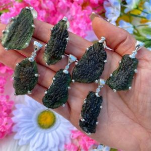 """Genuine Moldavite Necklace – from Czech Republic """"The Stone of Transformation""""-Reiki Crystal Healing- Genuine- One piece-Lot 7 
