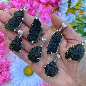"""Genuine Moldavite Necklace – from Czech Republic """"The Stone of Transformation""""-Reiki Crystal Healing- Genuine- One piece-Lot 9 