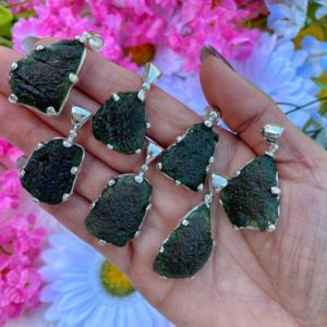 """Genuine Moldavite Necklace – from Czech Republic """"The Stone of Transformation""""-Reiki Crystal Healing- Genuine- One piece-Lot 11 