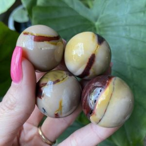 Shop Mookaite Jasper Shapes! Mookaite Sphere, Orb | Natural genuine stones & crystals in various shapes & sizes. Buy raw cut, tumbled, or polished gemstones for making jewelry or crystal healing energy vibration raising reiki stones. #crystals #gemstones #crystalhealing #crystalsandgemstones #energyhealing #affiliate #ad