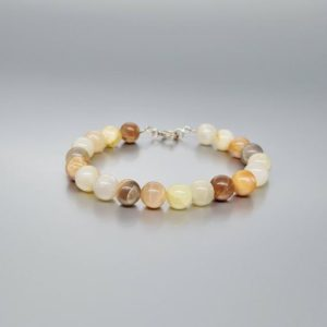 Shop Moonstone Bracelets! Bracelet multi color Moonstone with unique gift for her or him  polished natural gemstone June birthstone | Natural genuine Moonstone bracelets. Buy crystal jewelry, handmade handcrafted artisan jewelry for women.  Unique handmade gift ideas. #jewelry #beadedbracelets #beadedjewelry #gift #shopping #handmadejewelry #fashion #style #product #bracelets #affiliate #ad