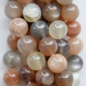 """Shop Moonstone Beads! Genuine Multicolor Moonstone  Beads – Round 8 mm Gemstone Beads – Full Strand 15 1/2"""", 50 beads, A+ Quality 