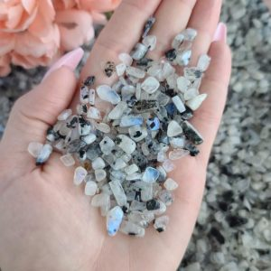 Shop Moonstone Stones & Crystals! Tiny Tumbled Moonstone Chips, Choose Quantity, Small Undrilled Crystal Stones for Jewelry, Decor, or Crystal Grids   Natural genuine stones & crystals in various shapes & sizes. Buy raw cut, tumbled, or polished gemstones for making jewelry or crystal healing energy vibration raising reiki stones. #crystals #gemstones #crystalhealing #crystalsandgemstones #energyhealing #affiliate #ad