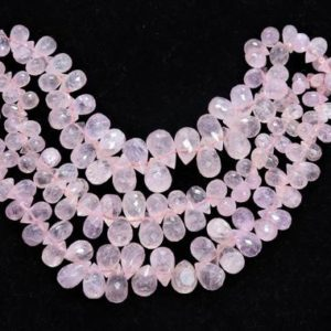 Shop Morganite Bead Shapes! Morganite faceted drops shoae beads, Morganite tear beads, Natural Morganite briolettes, Morganite faceted beads, Morganite Side Cut beads | Natural genuine other-shape Morganite beads for beading and jewelry making.  #jewelry #beads #beadedjewelry #diyjewelry #jewelrymaking #beadstore #beading #affiliate #ad