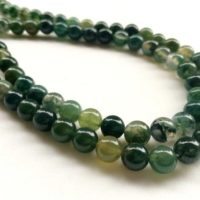 8mm Green Moss Agate Plain Round Beads, Natural Moss Agate Smooth Balls, , 14 In Shaded Moss Agate For Necklace (1strand To 5strand Options) | Natural genuine Gemstone jewelry. Buy crystal jewelry, handmade handcrafted artisan jewelry for women.  Unique handmade gift ideas. #jewelry #beadedjewelry #beadedjewelry #gift #shopping #handmadejewelry #fashion #style #product #jewelry #affiliate #ad