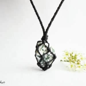 Tree Agate pendant, mens pendant, Moss Agate pendant, Tree Agate jewellery, mans pendant, nature lovers, tree lovers | Natural genuine Moss Agate pendants. Buy handcrafted artisan men's jewelry, gifts for men.  Unique handmade mens fashion accessories. #jewelry #beadedpendants #beadedjewelry #shopping #gift #handmadejewelry #pendants #affiliate #ad