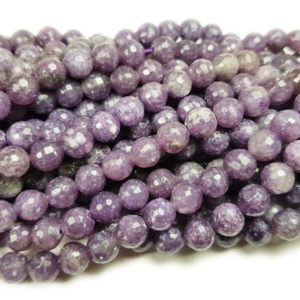 Shop Lepidolite Faceted Beads! Natural 12mm Lepidolite Purple Faceted Round Beads Genuine Gemstone   Natural genuine faceted Lepidolite beads for beading and jewelry making.  #jewelry #beads #beadedjewelry #diyjewelry #jewelrymaking #beadstore #beading #affiliate #ad