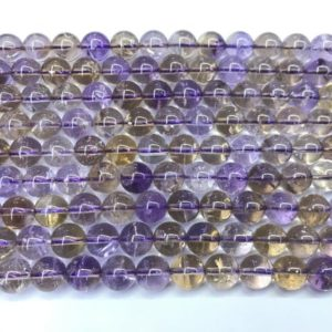 Shop Ametrine Round Beads! Natural Ametrine 6mm -12mm Round Genuine Grade AB Quartz Beads 15 inch Jewelry Supply Bracelet Necklace Material Support Wholesale | Natural genuine round Ametrine beads for beading and jewelry making.  #jewelry #beads #beadedjewelry #diyjewelry #jewelrymaking #beadstore #beading #affiliate #ad