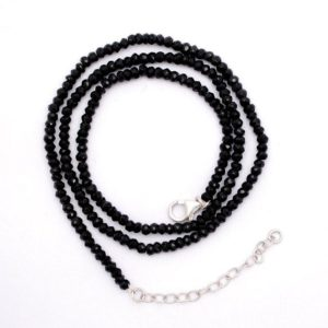 Shop Black Tourmaline Jewelry! Natural Black Tourmaline Necklace | 925 Sterling Silver 18 inches Necklace | Handmade Necklace | Energetic Necklace | Gift For Her | Natural genuine Black Tourmaline jewelry. Buy crystal jewelry, handmade handcrafted artisan jewelry for women.  Unique handmade gift ideas. #jewelry #beadedjewelry #beadedjewelry #gift #shopping #handmadejewelry #fashion #style #product #jewelry #affiliate #ad