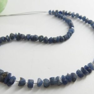 Shop Sapphire Chip & Nugget Beads! Natural Blue Sapphire 9 Inch Strand Natural Crystal Rough Anklets Chip Nuggets 6X3 To 3X2 MM Approx Wholesale Price New Arrival RB8 | Natural genuine chip Sapphire beads for beading and jewelry making.  #jewelry #beads #beadedjewelry #diyjewelry #jewelrymaking #beadstore #beading #affiliate #ad