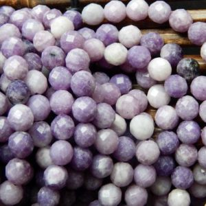 """Shop Lepidolite Beads! Natural Lepidolite Beads 8mm Faceted Round Gemstone Beautiful Purple color gemstone bead. Full strand 15.5""""   Natural genuine beads Lepidolite beads for beading and jewelry making.  #jewelry #beads #beadedjewelry #diyjewelry #jewelrymaking #beadstore #beading #affiliate #ad"""