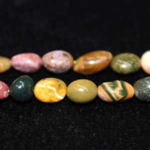 """Shop Ocean Jasper Chip & Nugget Beads! Natural Ocean Jasper Chip Beads,Chip beads,6x8mm 8x10mm Ocean Jasper Chip Nugget Beads,one strand 15"""",Ocean Jasper Beads. 