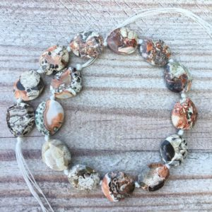 Shop Ocean Jasper Bead Shapes! Natural Ocean Jasper Freeform Faceted slice,Raw Jasper Gemstones Slice Beads  for Necklace Jewelry Making,Slab beads pendants necklaces. | Natural genuine other-shape Ocean Jasper beads for beading and jewelry making.  #jewelry #beads #beadedjewelry #diyjewelry #jewelrymaking #beadstore #beading #affiliate #ad