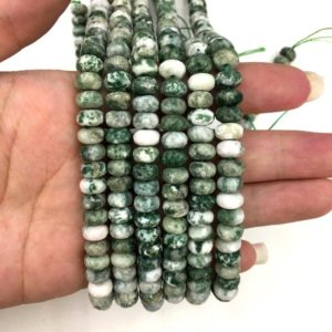Shop Ocean Jasper Rondelle Beads! Natural Ocean Jasper Green Agate Highly Polished Faceted Rondelle Shape Gemstone Loose Beads for Jewelry Making & Design AAA Quality 16inch | Natural genuine rondelle Ocean Jasper beads for beading and jewelry making.  #jewelry #beads #beadedjewelry #diyjewelry #jewelrymaking #beadstore #beading #affiliate #ad