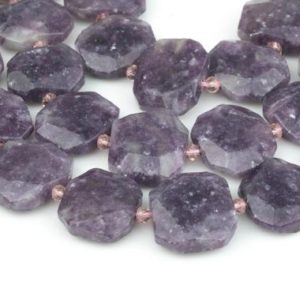 """Shop Lepidolite Beads! Natural Purple Mica Lepidolite~19x23mm –  A Grade – Hand Faceted Flat Rectangular Nuggets – 16"""" Strand Gemstone Beads   Natural genuine beads Lepidolite beads for beading and jewelry making.  #jewelry #beads #beadedjewelry #diyjewelry #jewelrymaking #beadstore #beading #affiliate #ad"""