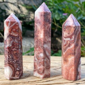 Shop Rhodochrosite Stones & Crystals! Natural Rhodochrosite Pork Stone Wand Point, Meditation Energy Reiki Point ,Obelisk Pillar Tower Point Wand Column Mineral Display specimen | Natural genuine stones & crystals in various shapes & sizes. Buy raw cut, tumbled, or polished gemstones for making jewelry or crystal healing energy vibration raising reiki stones. #crystals #gemstones #crystalhealing #crystalsandgemstones #energyhealing #affiliate #ad