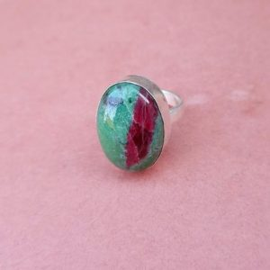 Shop Ruby Zoisite Rings! Oval Ruby Zoisite Ring | Unique Gift | Raw Ruby Zoisite Ring | Gemstone Ring | Silver Ring | Bezel Set Ring |Birthstone Ring |Ring For Women | Natural genuine Ruby Zoisite rings, simple unique handcrafted gemstone rings. #rings #jewelry #shopping #gift #handmade #fashion #style #affiliate #ad