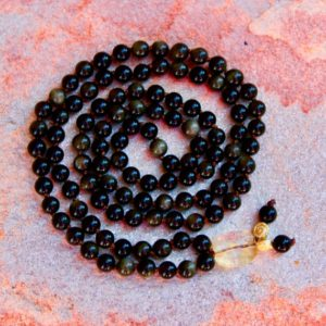 Shop Golden Obsidian Necklaces! Obsidian & Citrin. Mala. / Golden Black Obsidian / Citrin / Mala for Men/ Meditation Necklace / Spirituality / Powermala/ 108 Mala Beads | Natural genuine Golden Obsidian necklaces. Buy crystal jewelry, handmade handcrafted artisan jewelry for women.  Unique handmade gift ideas. #jewelry #beadednecklaces #beadedjewelry #gift #shopping #handmadejewelry #fashion #style #product #necklaces #affiliate #ad