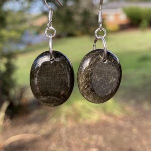 Shop Obsidian Earrings! Gold Obsidian Earrings   Natural genuine Obsidian earrings. Buy crystal jewelry, handmade handcrafted artisan jewelry for women.  Unique handmade gift ideas. #jewelry #beadedearrings #beadedjewelry #gift #shopping #handmadejewelry #fashion #style #product #earrings #affiliate #ad
