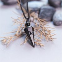 Obsidian Crystal Necklace, natural Black Obsidian Hexagon Point Pendulum Necklace Women Men, healing Stone Anxiety Relief Protection Necklace   Natural genuine Gemstone jewelry. Buy crystal jewelry, handmade handcrafted artisan jewelry for women.  Unique handmade gift ideas. #jewelry #beadedjewelry #beadedjewelry #gift #shopping #handmadejewelry #fashion #style #product #jewelry #affiliate #ad