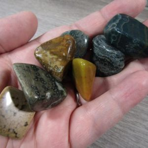 Shop Tumbled Ocean Jasper Crystals & Pocket Stones! Ocean Jasper Large Tumbled Stone T247 | Natural genuine stones & crystals in various shapes & sizes. Buy raw cut, tumbled, or polished gemstones for making jewelry or crystal healing energy vibration raising reiki stones. #crystals #gemstones #crystalhealing #crystalsandgemstones #energyhealing #affiliate #ad