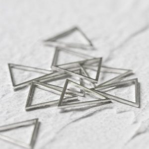 Shop Jewelry Connectors! One Piece Solid Sterling Silver Triangle – Link –  Connector 14.6mm (SS007)   Shop jewelry making and beading supplies, tools & findings for DIY jewelry making and crafts. #jewelrymaking #diyjewelry #jewelrycrafts #jewelrysupplies #beading #affiliate #ad