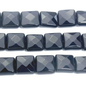 Shop Healing Stone Bracelets! faceted square onyx beads – natural black onyx pillow beads – black gemstone jewellery beads – black beads for bracelet making -15inch | Natural genuine Gemstone bracelets. Buy crystal jewelry, handmade handcrafted artisan jewelry for women.  Unique handmade gift ideas. #jewelry #beadedbracelets #beadedjewelry #gift #shopping #handmadejewelry #fashion #style #product #bracelets #affiliate #ad