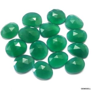Shop Onyx Shapes! 25 carat 10x14mm to 15x20mm Green Onyx Rosecut Uneven Shape Loose Gemstone, Green Onyx Uneven Rosecut Gemstone, AAA Quality Green Onyx Gems | Natural genuine stones & crystals in various shapes & sizes. Buy raw cut, tumbled, or polished gemstones for making jewelry or crystal healing energy vibration raising reiki stones. #crystals #gemstones #crystalhealing #crystalsandgemstones #energyhealing #affiliate #ad