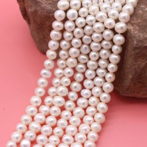 Shop Pearl Bead Shapes! Natural pearl beads,White freshwater potato pearl beads,White baroque pearls,Wedding jewelry ,Diy jewelry,Full strand-15-15.5inches-FP135 | Natural genuine other-shape Pearl beads for beading and jewelry making.  #jewelry #beads #beadedjewelry #diyjewelry #jewelrymaking #beadstore #beading #affiliate #ad