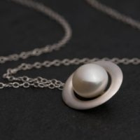 White Pearl Necklace In Silver – South Sea Pearl Pendant   Natural genuine Gemstone jewelry. Buy crystal jewelry, handmade handcrafted artisan jewelry for women.  Unique handmade gift ideas. #jewelry #beadedjewelry #beadedjewelry #gift #shopping #handmadejewelry #fashion #style #product #jewelry #affiliate #ad