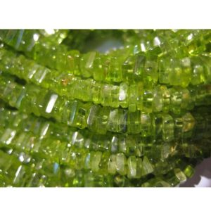 5mm Peridot Square Heishi Cut Beads, Peridot Flat Square Heishi, Peridot Heishi For Jewelry, Peridot Green Gems (8IN To 16IN Options) | Natural genuine other-shape Gemstone beads for beading and jewelry making.  #jewelry #beads #beadedjewelry #diyjewelry #jewelrymaking #beadstore #beading #affiliate #ad