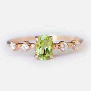 peridot engagement ring, 14k peridot ring, august birthstone ring, birthstone ring, peridot engagement, dainty peridot ring, peridot ring   Natural genuine Array rings, simple unique alternative gemstone engagement rings. #rings #jewelry #bridal #wedding #jewelryaccessories #engagementrings #weddingideas #affiliate #ad