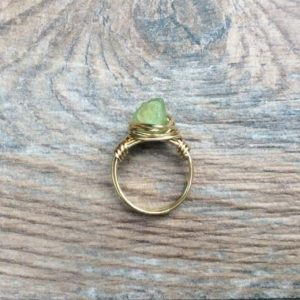 Raw Peridot ring, August birthstone, 14k gold filled or Sterling Silver | Natural genuine Gemstone rings, simple unique handcrafted gemstone rings. #rings #jewelry #shopping #gift #handmade #fashion #style #affiliate #ad