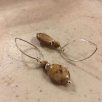 Brown Earrings – Picture Jasper Gemstone Jewelry – Sterling Silver Jewellery – Beaded – Fashion | Natural genuine Gemstone jewelry. Buy crystal jewelry, handmade handcrafted artisan jewelry for women.  Unique handmade gift ideas. #jewelry #beadedjewelry #beadedjewelry #gift #shopping #handmadejewelry #fashion #style #product #jewelry #affiliate #ad
