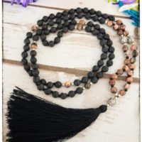 Lava Bead Necklace For Women, Picture Jasper Necklace Men, Japa Mala Beads 108 Mala Necklace, Prayer Bead Necklace, Yoga Lover Gift For Her | Natural genuine Gemstone jewelry. Buy crystal jewelry, handmade handcrafted artisan jewelry for women.  Unique handmade gift ideas. #jewelry #beadedjewelry #beadedjewelry #gift #shopping #handmadejewelry #fashion #style #product #jewelry #affiliate #ad