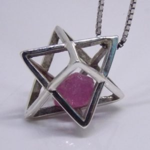 Sapphire Merkaba Necklace , natural pink sapphire , Merkaba jewelry , Meditation pendant, sacred Geometry, star kaballah,  3D, Star of David   Natural genuine Gemstone pendants. Buy crystal jewelry, handmade handcrafted artisan jewelry for women.  Unique handmade gift ideas. #jewelry #beadedpendants #beadedjewelry #gift #shopping #handmadejewelry #fashion #style #product #pendants #affiliate #ad