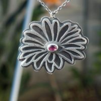 Flower Necklace – Pink Tourmaline Necklace | Natural genuine Gemstone jewelry. Buy crystal jewelry, handmade handcrafted artisan jewelry for women.  Unique handmade gift ideas. #jewelry #beadedjewelry #beadedjewelry #gift #shopping #handmadejewelry #fashion #style #product #jewelry #affiliate #ad