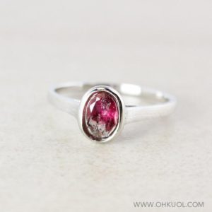 Shop Pink Tourmaline Rings! Oval Pink Tourmaline Ring, 925 Sterling Silver   Natural genuine Pink Tourmaline rings, simple unique handcrafted gemstone rings. #rings #jewelry #shopping #gift #handmade #fashion #style #affiliate #ad