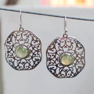 Shop Prehnite Earrings! Prehnite Earrings, Sterling Silver Jewelry, Gemstone Dangles, Lucky Gemstone, Ready To Ship, Christmas Gift, Stone Of Prophecy,  Earrings | Natural genuine Prehnite earrings. Buy crystal jewelry, handmade handcrafted artisan jewelry for women.  Unique handmade gift ideas. #jewelry #beadedearrings #beadedjewelry #gift #shopping #handmadejewelry #fashion #style #product #earrings #affiliate #ad