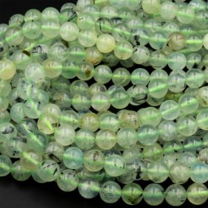 """Natural Green Prehnite 4mm 6mm 8mm 10mm Smooth Round Beads 15.5"""" Strand   Natural genuine round Prehnite beads for beading and jewelry making.  #jewelry #beads #beadedjewelry #diyjewelry #jewelrymaking #beadstore #beading #affiliate #ad"""