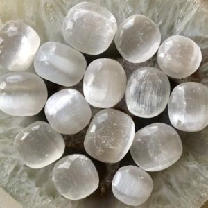 Shop Tumbled Selenite Crystals & Pocket Stones! Premium White Selenite Tumbled Stones. Polished Selenite Crystal For Reiki & Crystal Healing. Meditation. Chakra Stones. Crystal Grids | Natural genuine stones & crystals in various shapes & sizes. Buy raw cut, tumbled, or polished gemstones for making jewelry or crystal healing energy vibration raising reiki stones. #crystals #gemstones #crystalhealing #crystalsandgemstones #energyhealing #affiliate #ad