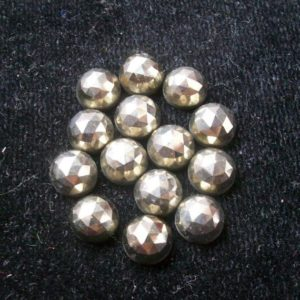 Shop Pyrite Stones & Crystals! 10 Pieces 5mm Golden Pyrite Rosecut Cabochon Round Gemstone, Golden Pyrite Round Rose Cut, Pyrite Rose Cut Round Faceted, Rosecut | Natural genuine stones & crystals in various shapes & sizes. Buy raw cut, tumbled, or polished gemstones for making jewelry or crystal healing energy vibration raising reiki stones. #crystals #gemstones #crystalhealing #crystalsandgemstones #energyhealing #affiliate #ad