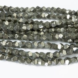 pyrite nugget beads – bronze pyrite beads – smalle nugget spacer beads – faceted spacer beads – faceted spacer beads – 6x7mm bead – 15 inch | Natural genuine beads Gemstone beads for beading and jewelry making.  #jewelry #beads #beadedjewelry #diyjewelry #jewelrymaking #beadstore #beading #affiliate #ad