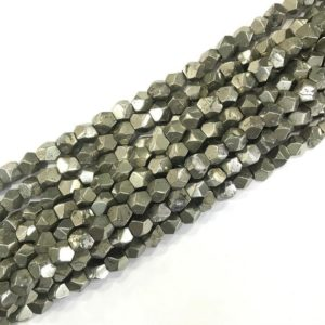 Shop Pyrite Beads! Pyrite Nugget Beads, Natural Gemstone Beads, Pyrite Faceted Stone Beads 4mm 6mm 8mm 10mm 15'' | Natural genuine beads Pyrite beads for beading and jewelry making.  #jewelry #beads #beadedjewelry #diyjewelry #jewelrymaking #beadstore #beading #affiliate #ad
