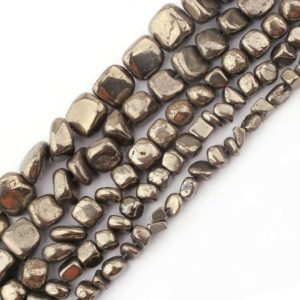 Shop Pyrite Chip & Nugget Beads! Pyrite Nugget Beads, Natural Gemstone Beads, Chips Beads, Loose Stone Beads For Jewelry Making  3-11mm | Natural genuine chip Pyrite beads for beading and jewelry making.  #jewelry #beads #beadedjewelry #diyjewelry #jewelrymaking #beadstore #beading #affiliate #ad