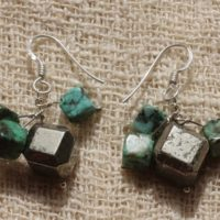 Sterling Silver 925 Turquoise Of Africa And Pyrite Earrings   Natural genuine Gemstone jewelry. Buy crystal jewelry, handmade handcrafted artisan jewelry for women.  Unique handmade gift ideas. #jewelry #beadedjewelry #beadedjewelry #gift #shopping #handmadejewelry #fashion #style #product #jewelry #affiliate #ad